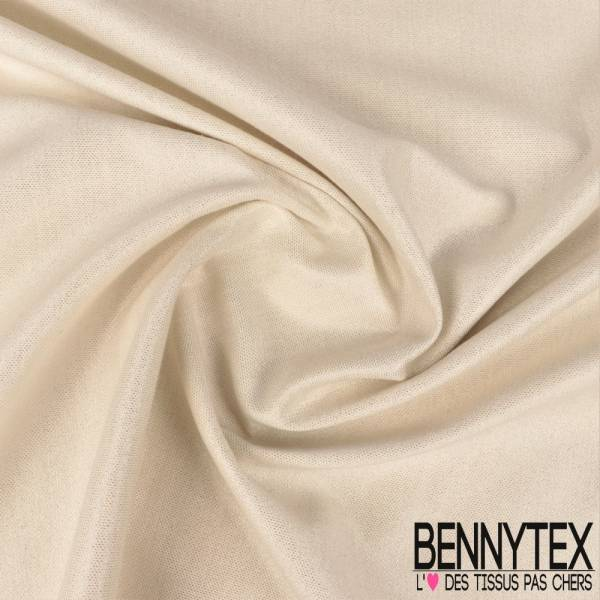 Gabardine Coton Blanche Lurex Argent