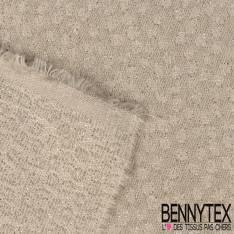 Coton Ecru Lurex Argent Polyester