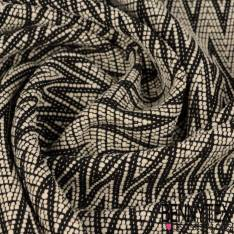 Laine polyester costume uni noir profond