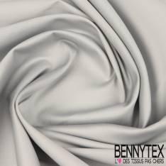 Satin de Coton Elasthanne Perle