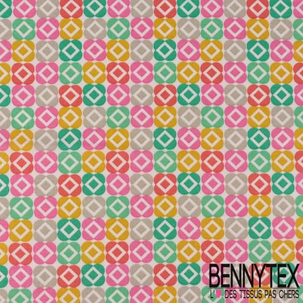 Toile Lorraine 100% Coton Imprimé BACCARA multicolore