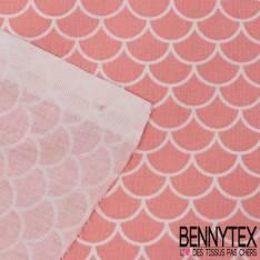 Coton Impression Motif Ours avec son Parapluie fond Rose Layette