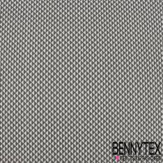 Coton Impression Motif Petit Triangle Gris Anthracite et Blanc Successif