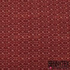 Crêpe Polyester Semi Fluide Imprimé Petites Fleurs Champêtres fond Vert Bouteille