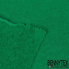 Molleton Bouclette Elasthanne Vert Brésil