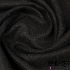 Drap de Laine Noir effet Carreaux Chinés gris Fondu