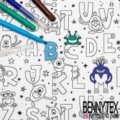 Coton à colorier Lavable Alphabet et Extraterrestre et Réutilisable à l'infini