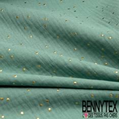 Coton Double Emeraude Pastille Relief Or