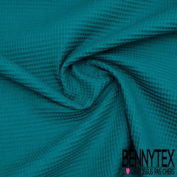 Coton Nid d'Abeille Vert Impérial