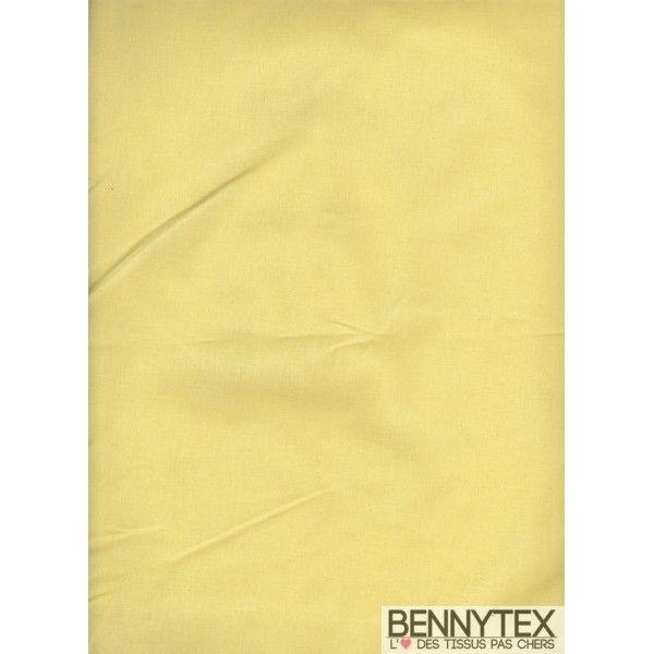 Coton Enduit Uni Jaune