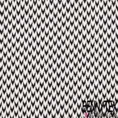 Maille Viscose Polyamide Elasthanne Motif Jaquard Noir et Blanc