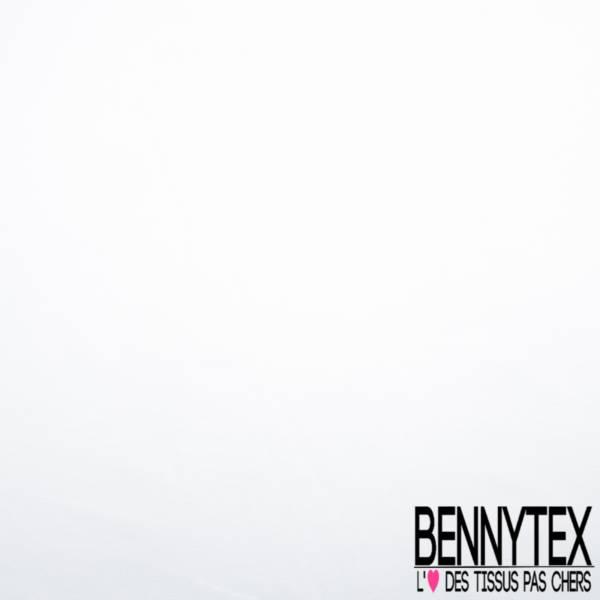 Toile coton ignifugée Blanche Grande Laize 260cm