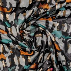 Toile Polyester Coton Acétate Camouflage