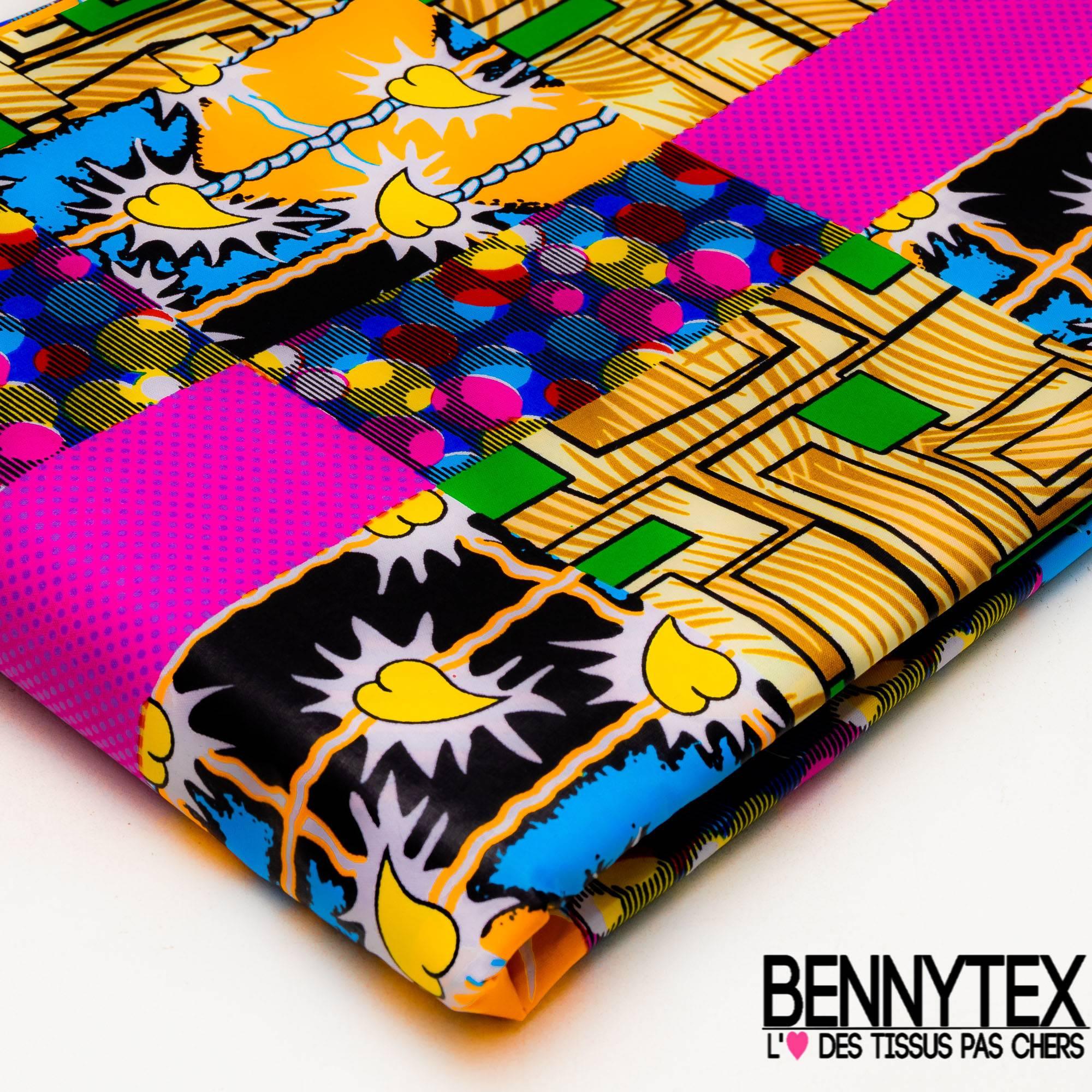 fc09c0a54987 Wax Africain N° 369  Motif Carré Fantaisie Multicolore   Bennytex vente de  tissus pas cher au mètre