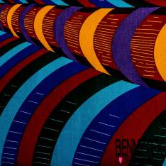 Wax Africain N° 400: Motif Abstrait Multicolore Symétrique