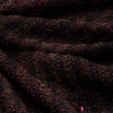 Laine Tressée Fluide et Douce Fushia Choco Noir A Rayure Horizontale