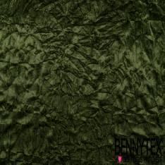 Panne de Velours Velvet Froissé Kaki