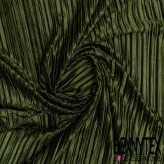 Panne de Velours Velvet Plissé Kaki