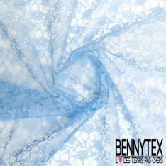Dentelle Bloquée Polyamide Bleu Ciel