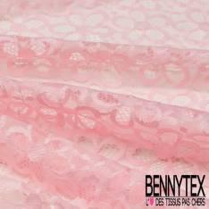 Dentelle Bloquée Polyamide Rose Dragée