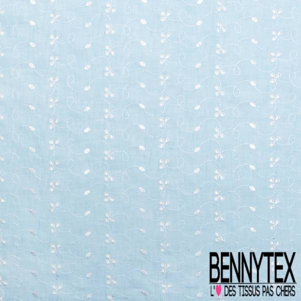 Broderie Anglaise Bleu Layette