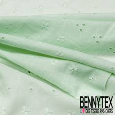 Broderie Anglaise Vert Amande