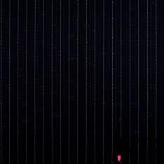 Laine à costume Fine Rayure Verticale Perle Ciel fond Bleu Nuit