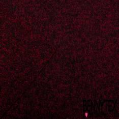 Laine Bouillie Effet Chiné Rouge Noir