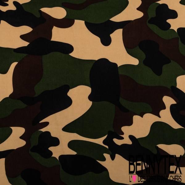 Fibranne Polyester Imprimé Camouflage