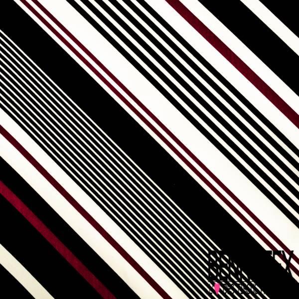 Fibranne Polyester Imprimé Grande Fleur Cachemire fond Noir