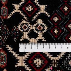 Microfibre Imprimé Azthèque fond Noir Texturé Quadrillage