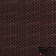 Microfibre Imprimé Pyjama Bordeaux Nuit Perle Texturé Quadrillage
