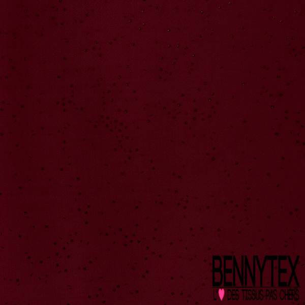 Maille Gaufrée à Motif Projection de Confetti Embossé ton sur ton fond Lie de Vin