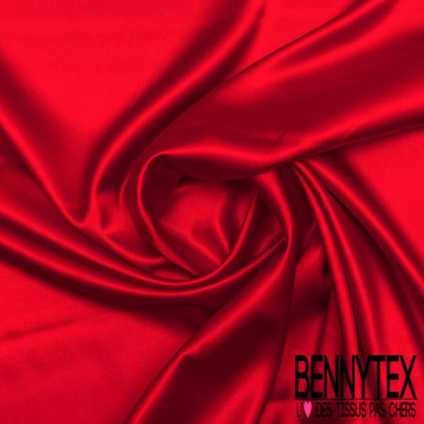 Satin Polyester Rouge