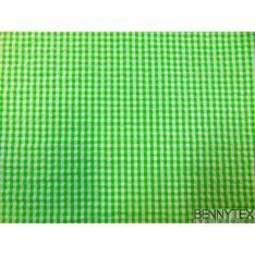 Coton Vichy Froissé Vert