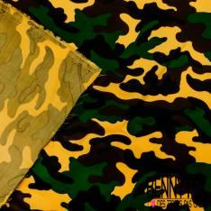 Gabardine Sergé Polyester Coton Camouflage