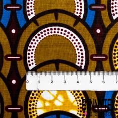Wax Africain N° 444: Motif Rondin de Bois à la Queuleuleu