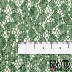 Dentelle Elasthanne Petite Feuille coloris Vert Tilleul