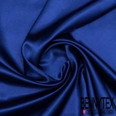Satin Polyester Bleu