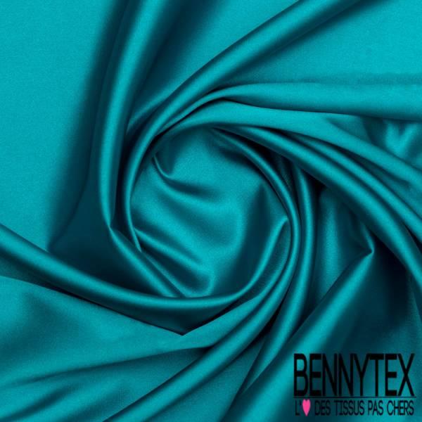 Satin Polyester Elasthanne Bleu Lagon
