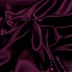 Satin Polyester Elasthanne Prune