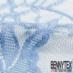 Dentelle Elasthanne Polyamide Bleu Charrette