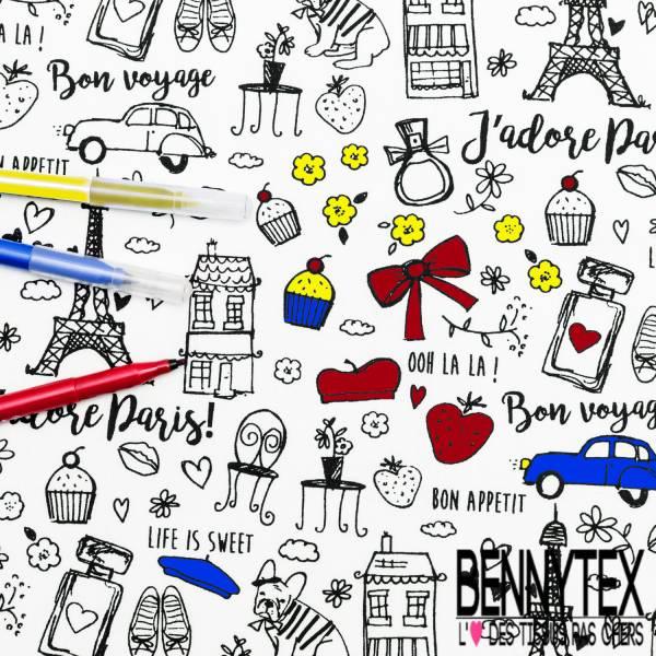 Coton à colorier Lavable La Parisienne et Réutilisable à l'infini
