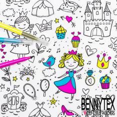 Coton à colorier Lavable La Fée Princesse et Réutilisable à l'infini