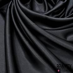 Satin Polyester Elasthanne Noir