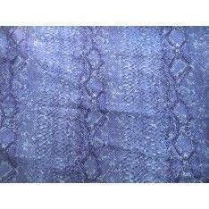 Gabardine Coton Bleue Ciel Imprime Serpent