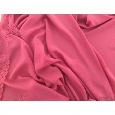 Polyester Rose Perforé fleurs