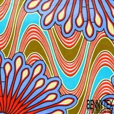 Wax Africain N° 462: Motif Psychédélique Hypnotique Seventies
