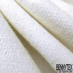 Molleton Bouclette Blanc cassé