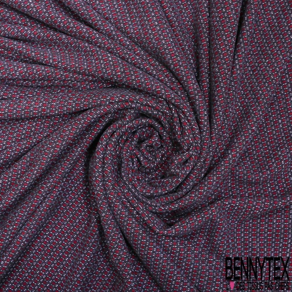 8899e38e4c71e ... Maille Viscose Polyester Coton Motif Cravate Blanc Ocre fond Noir ...